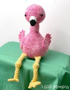 Flamingo Amigurumi Free Crochet Pattern By 5 Little Monsters
