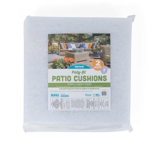 Poly-Fil® Patio Foam 22″ X 22″ X 2 – 2 Pk