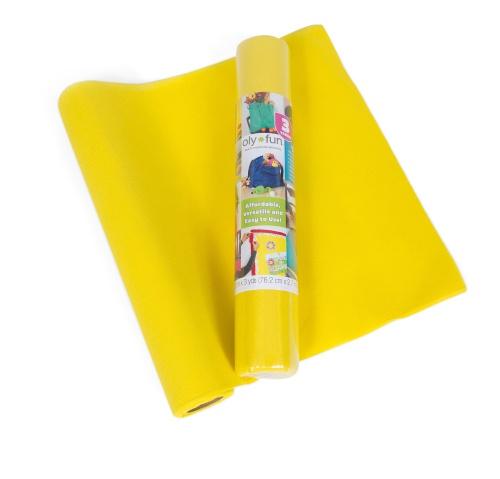 Oly-Fun –  Craft Fabric – Lemon Drop 30″ x 3 yd. – 4 pk.