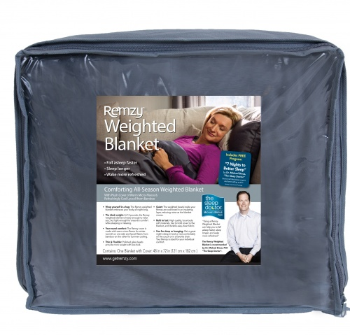 Remzy SL Weighted Blanket w/Premium Duvet Cover 12 lbs. 48″ X 72″