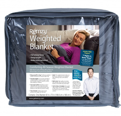 Remzy Weighted Blanket w/Premium Duvet Cover 12 lbs. 42″ X 72″