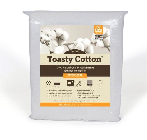 Toasty Cotton Batting – 120″ x 120″ folded