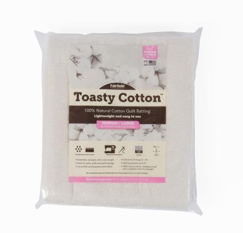 Toasty Cotton Batting – 81″ x 96″ folded