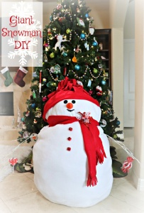 Giant Fluffy Snowman DIY