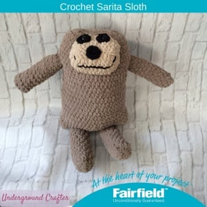 Crochet Sarita Sloth Free Pattern By Underground Crafter