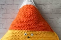 Kernel the Giant Crochet Candy Corn Softie