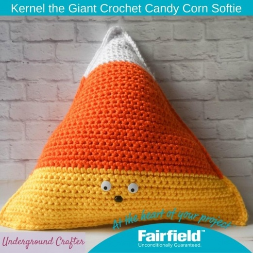Kernel the Giant Crochet Candy Corn Softie