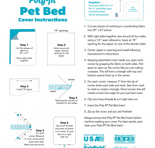 Poly-fil® Pet Bed Insert – project ready!