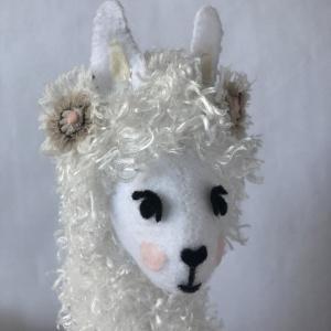 Soft Sculpture Llama pillow