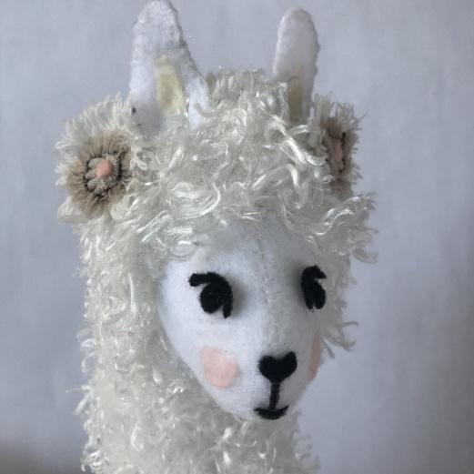 Llama Love - Soft Sculpture Llama Pillow