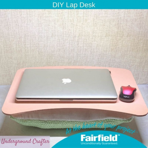 DIY Lap Desk with Crochet Cushion